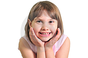 Happy Little Girl Royalty Free Stock Image - Image: 9668966