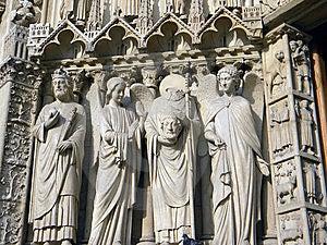 Notre Dame De Paris, Detail Stock Images - Image: 9669644