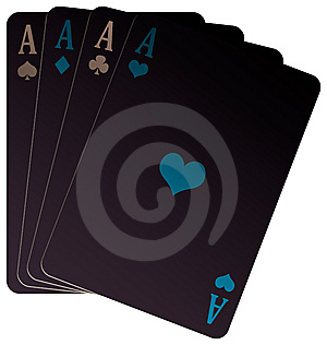 Negative Poker Of Aces Royalty Free Stock Image - Image: 9669786