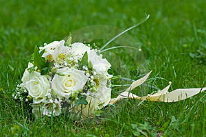 Bouquet On Green Grass Royalty Free Stock Images - Image: 9670839