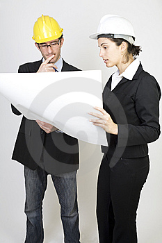 Engineer And Client On Site Royalty Free Stock Photo - Image: 9671385