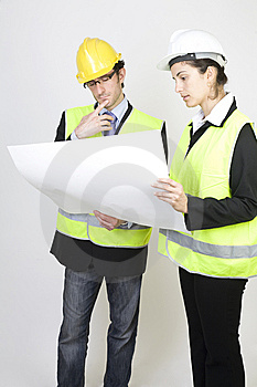 Engineer And Client On Site Royalty Free Stock Images - Image: 9671459
