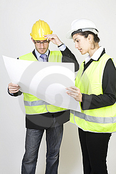 Engineer And Client On Site Royalty Free Stock Photography - Image: 9671487