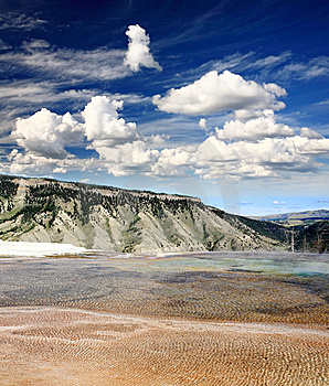 The Mammoth Hot Spring Area In Yellowstone Stock Photography - Image: 9674092