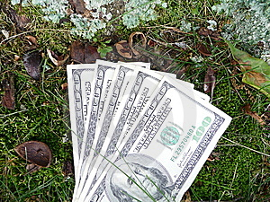 One Hundred Dollar Bills Royalty Free Stock Photo - Image: 9674135