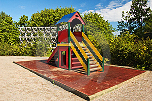 Slide On Child Playground Stock Images - Image: 9675814