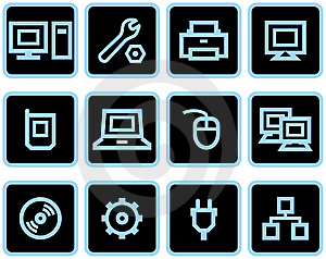 Vector Web Icons Set – Hardware Royalty Free Stock Photography - Image: 9678417