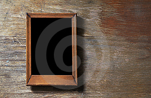 Empty Frame On Wooden Background Stock Images - Image: 9679004