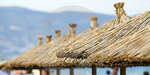 Beach Umbrellas Detail Stock Images - Image: 9682794