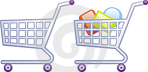 Shopping Carts Vector Illustrations Stock Photography - Image: 9683812
