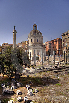Trajan Forum Stock Photo - Image: 9686990