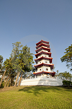 Chinese Pagoda In Park Stock Photography - Image: 9691972
