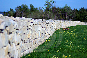 Stone Wall View Royalty Free Stock Images - Image: 9692569