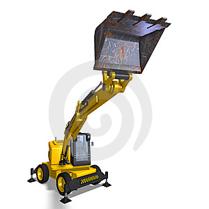 Wheel Excavator Stock Image - Image: 9692811