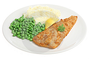 Cod Fillet With Mash & Peas Stock Images - Image: 9693954