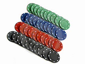 Set Of Colored Casino Chips Royalty Free Stock Images - Image: 9694899