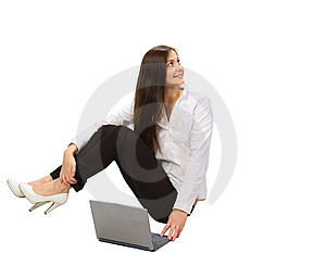 Businesswoman With Laptop Royalty Free Stock Photography - Image: 9696687