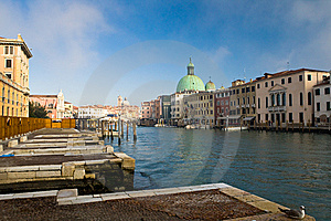 Venice Channel With  Boats Stock Photography - Image: 9697572