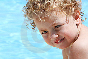 Child Swimming Stock Image - Image: 9697731