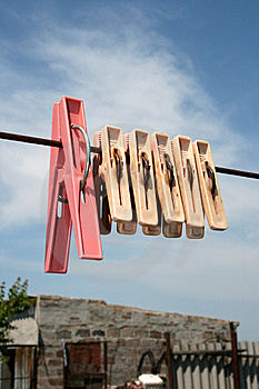 Clothes-pins Stock Photo - Image: 9697780