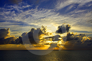 Miami Sunrise Royalty Free Stock Photos - Image: 9698718