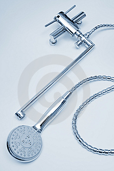 Metal Faucet And Shower Stock Photography - Image: 9698922