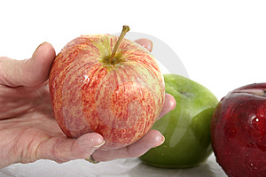 Apple In Hand Royalty Free Stock Photography - Image: 970747