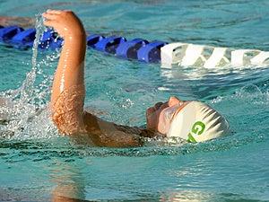 Backstroke Pływanie Zdjęcia Stock - Obraz: 975883