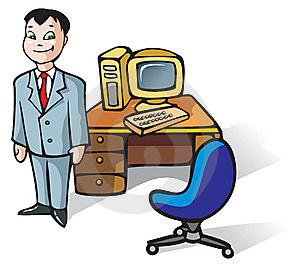 Office Clerk Royalty Free Stock Photography - Image: 9701367