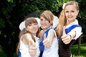 Three Funny Graduates Stock Image - Image: 9703361