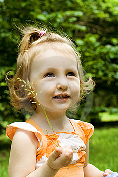 Portrait Of The Littel Girl Stock Image - Image: 9704031