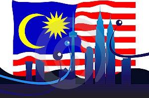 Malaysian Flag Royalty Free Stock Photo - Image: 9704055