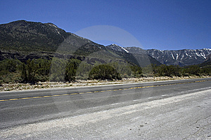Freeway With The Rocks On Horizon Stock Photography - Image: 9705602