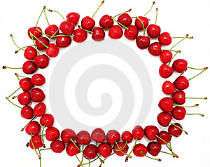 Frame From Ripe Sweet Cherries Stock Image - Image: 9706711