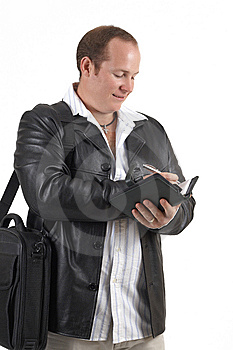 Businessman Holding A Diary Stock Image - Image: 9706781