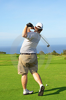 Golfer On The Tee Box Royalty Free Stock Photos - Image: 9706798