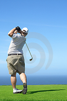 Golfer On The Tee Box Royalty Free Stock Images - Image: 9706799