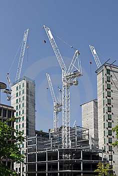 Construction At London. Stock Photos - Image: 9706983