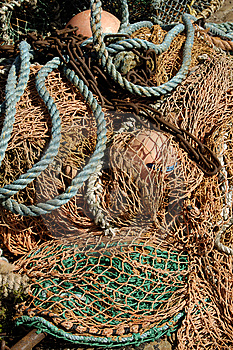 Deep Sea Fishing Nets & Buoys Royalty Free Stock Photography - Image: 9707647