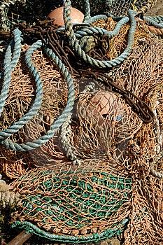 Deep Sea Fishing Nets & Buoys Royalty Free Stock Photography - Image: 9707647