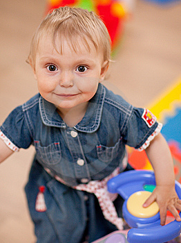 Baby With A Toy Stock Images - Image: 9708534