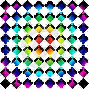 Rainbow Mosaic Squares Royalty Free Stock Photo - Image: 9708875