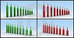 Graphs Wine Bottles Stock Photography - Image: 9709082
