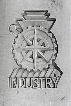 Industry Emblem Stock Photography - Image: 9710492