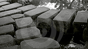 Stones In Japanese Garden Royalty Free Stock Image - Image: 9713296