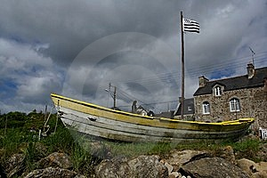 Ship In Brittany Stock Image - Image: 9713751