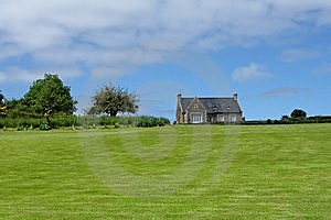 Brittany House On Meadow Royalty Free Stock Photos - Image: 9713768