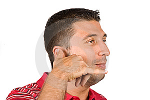 Phone Gesture Man Stock Photos - Image: 9713903