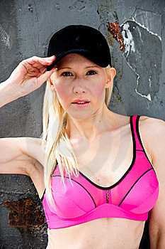 Fit And Healthy Blond Working Out Royalty Free Stock Photography - Image: 9714957