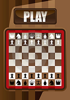 Designed Chess Poster Royalty Free Stock Photography - Image: 9715337